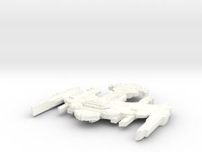 TuBroq Class Klingon Destroyer in White Strong & Flexible Polished