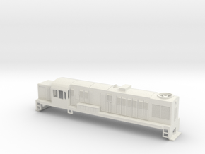 DJ Locomotive, New Zealand, (S Scale, 1:64) in White Strong & Flexible