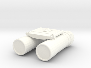 1/10 Scale Compact Binoculars in White Strong & Flexible Polished