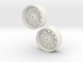 1:64 IH 86 & 88 series rear wheel pair in White Strong & Flexible