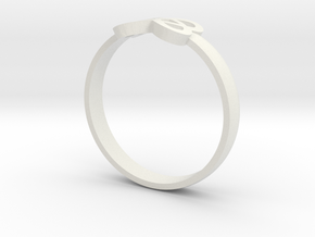 Infinity Ring 55mm in White Strong & Flexible