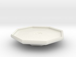 blake platter on stand in White Strong & Flexible