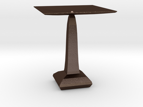 red cap table 5 in Matte Bronze Steel