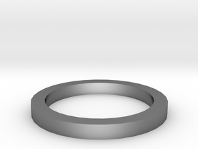 Dazzling ring in Polished Silver