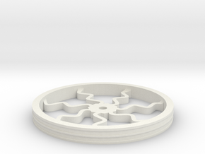 100mmFloppyBotWheel-05 in White Strong & Flexible