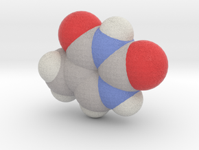 Thymine molecule (x40,000,000, 1A = 4mm) in Full Color Sandstone