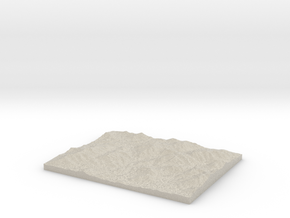 Model of MacNaughton Mountain in Sandstone