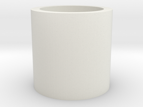 Hollow Cylinder in White Strong & Flexible