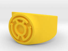 Sinestro Yellow Fear GL Ring (Szs 5-15) in Yellow Strong & Flexible Polished