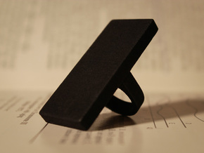 Monolith Ring in Black Strong & Flexible