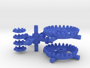 Multiplicator Gears and Axes - Kid Edition in Blue Strong & Flexible Polished