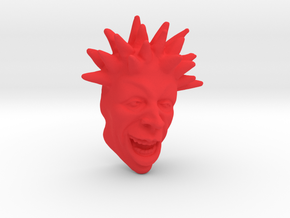 Spike Haired Guy 2.5 in Red Strong & Flexible Polished