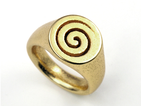 Spiral Ring in Stainless Steel