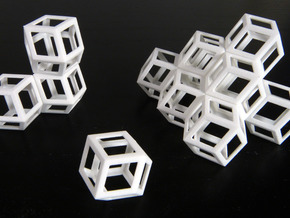 Space filling rhombic dodecahedra in White Strong & Flexible
