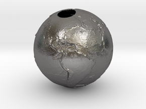 Earth Without Water (Pendant 20mm) in Polished Nickel Steel