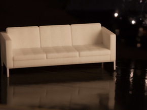 1:24 Knoll Sofa in White Strong & Flexible