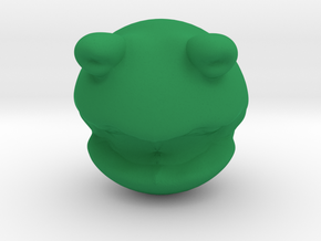 Rolly Polly Kermit Head in Green Strong & Flexible Polished