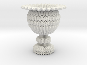 Cup Model Center Fractal Lite in White Strong & Flexible