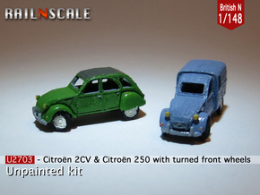 SET 2x Citroën 2CV - parked (British N 1:148) in Frosted Ultra Detail