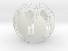 Lampshade (Designer Sphere1) in White Strong & Flexible