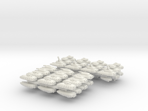"""Team Katana"" 3mm Anti-Grav Task Force (48pcs) in White Strong & Flexible"