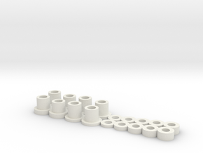 Shims and inserts for Mini-z A-arm suspension  in White Strong & Flexible