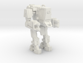 1/87 Scale Wofenstain Boss Robot in White Strong & Flexible