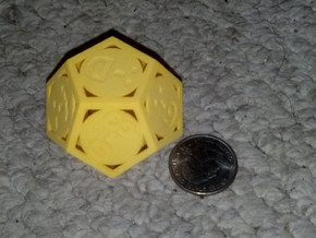 Phantom Tollbooth Dodecahedron - Emoticons in Yellow Strong & Flexible Polished