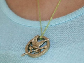Mocking Jay Pendant in Polished Bronze Steel