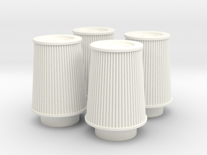 1/8 K&N Cone Style Air Filters TDR 4630 in White Strong & Flexible Polished