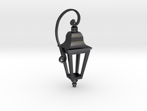English Street Lamp Pendant in Polished Grey Steel