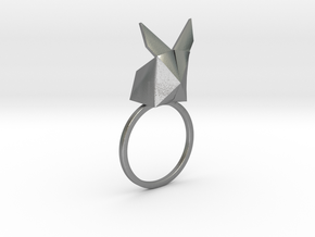 Rabbit Ring in Raw Silver
