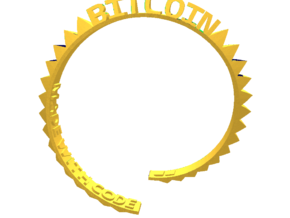 Bitcoin Bracelet in Yellow Strong & Flexible Polished