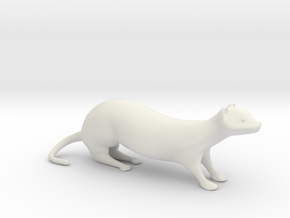 The Weasel Desk Toy in White Strong & Flexible