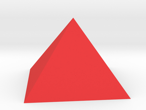 Pyramid Square Johnson J1 20mm  in Red Strong & Flexible Polished