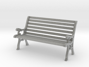 G Scale Park Bench 1:20 in Metallic Plastic