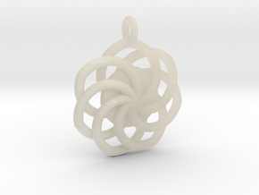 Circular Wrapped Pendant in White Acrylic