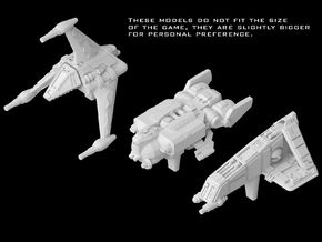 (Armada) Civilian Gunships Set I in Frosted Ultra Detail