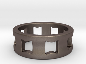 Concave Ring Size 8.5 in Stainless Steel