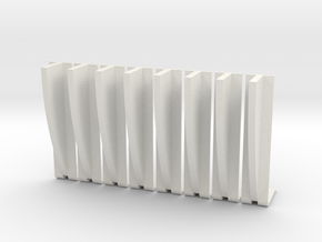 Ribs for Han Diorama 6 inch in White Strong & Flexible
