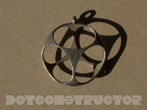 Cubic Shell Pendant W/ Hoop in Stainless Steel