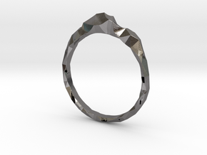 Shard Ring Asymmetrical in Polished Nickel Steel