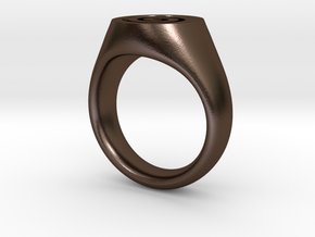 Spiral Ring in Polished Bronze Steel
