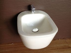 1:12 Bidet with tap, wall-mounted in White Strong & Flexible Polished