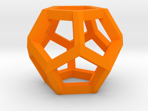 Dodecahedron charm Large in Orange Strong & Flexible Polished