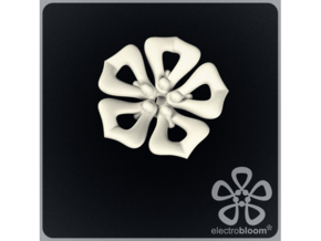 Jenny flower charm. in White Strong & Flexible