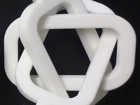 male/male Borromean rings in White Strong & Flexible Polished