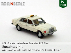 Mercedes-Benz W123 Taxi (N 1:160) in Frosted Ultra Detail