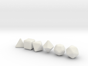 Blank Gaming Dice with Bevels in White Strong & Flexible