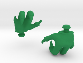 Reptile Hands in Green Strong & Flexible Polished